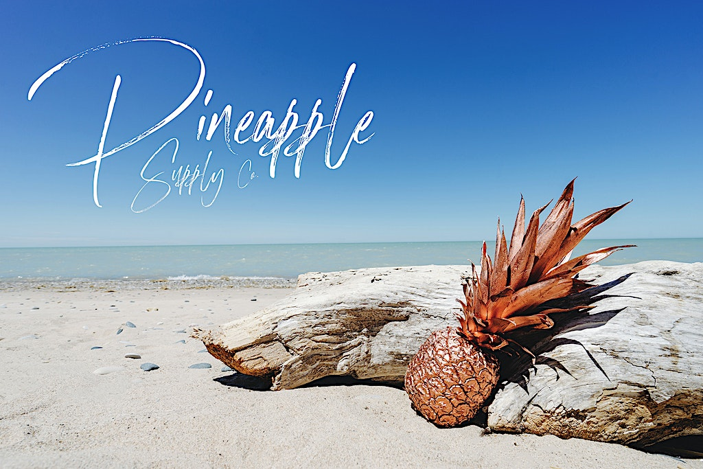 Rose Gold Pineapple Supply Co. Background Wallpaper