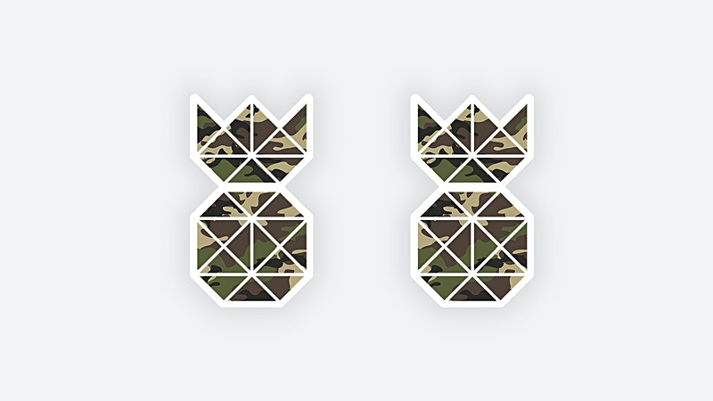 Vinyl Camouflage Pineapple Stickers for Sale