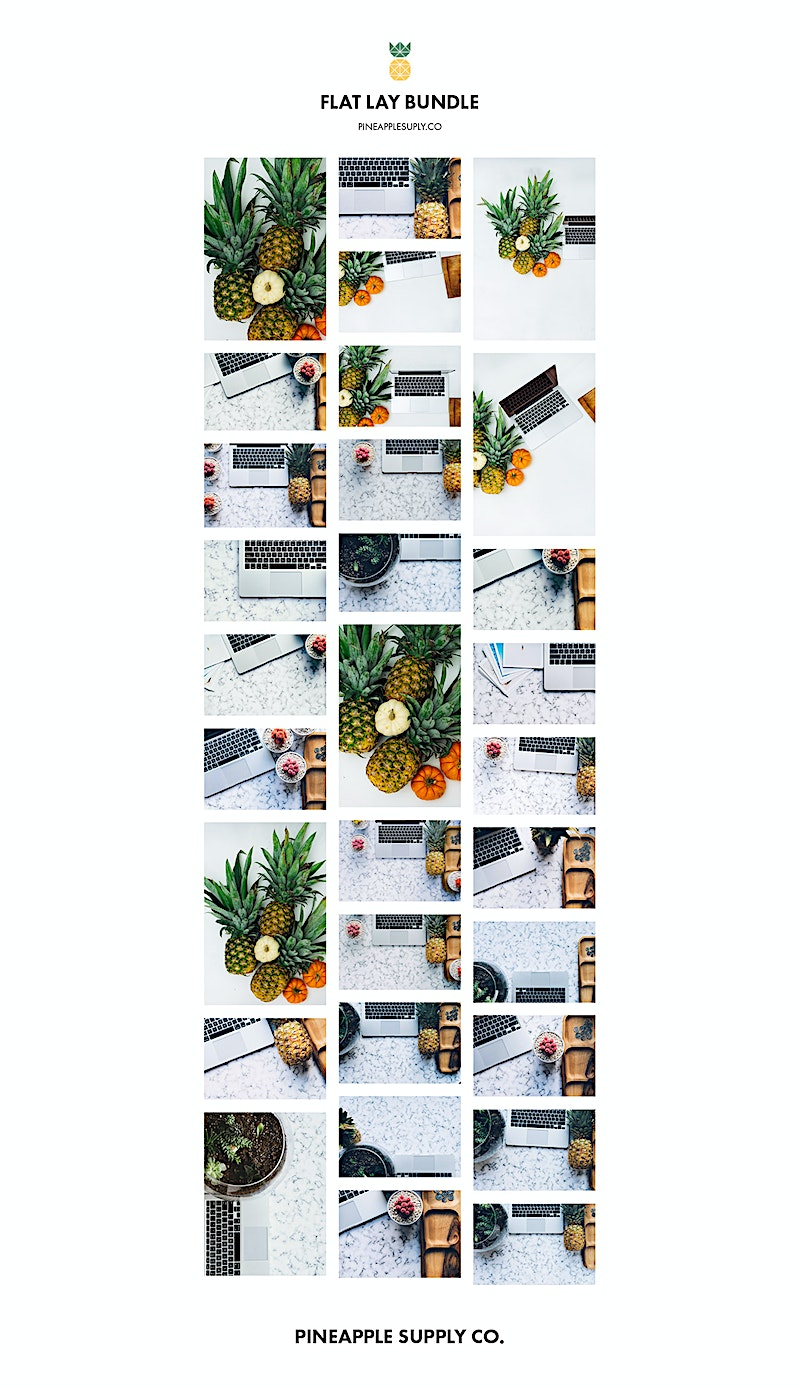 pineapple flat lay bundle overview