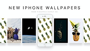 July's Fresh Assorted Pineapple Wallpapers for iPhones!