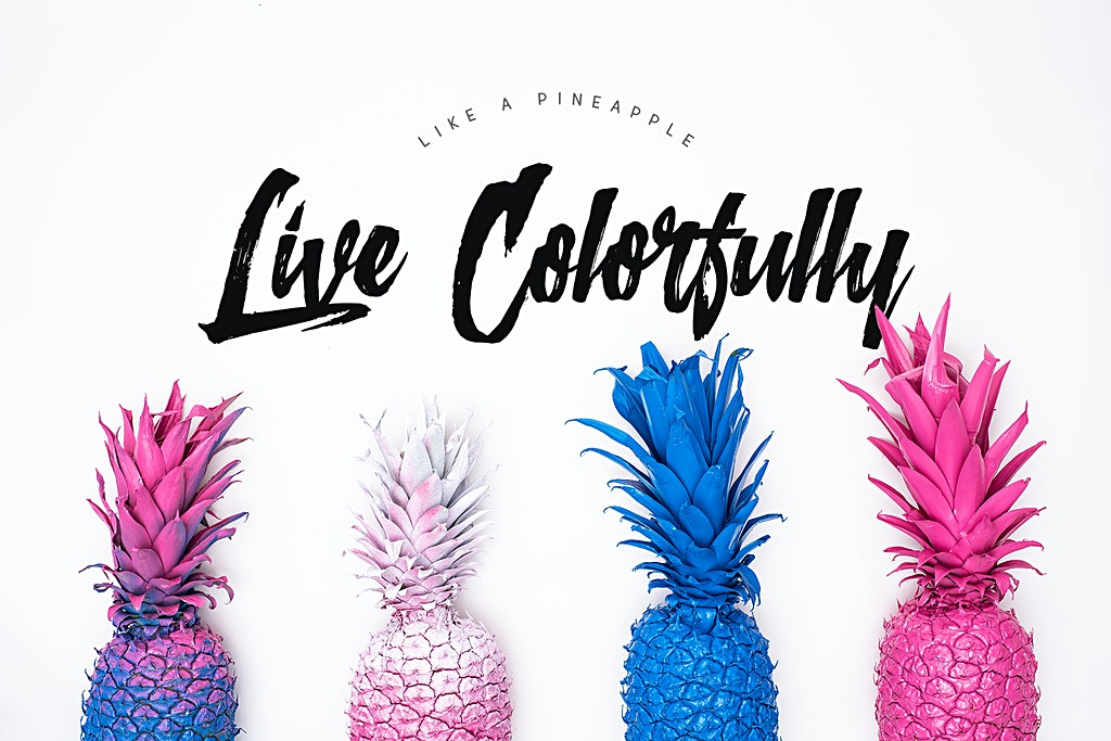 Live Colorfully Pineapple Background for Desktop