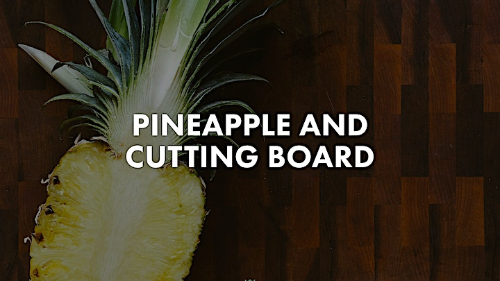 Pineapple Photo Bundle of a pineapple on a cutting board