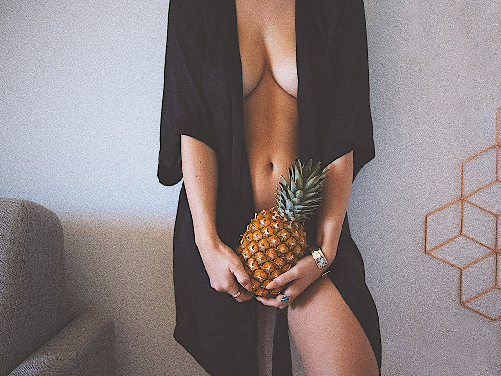 pineapple fruit sexually represented in photo by marvin meyer