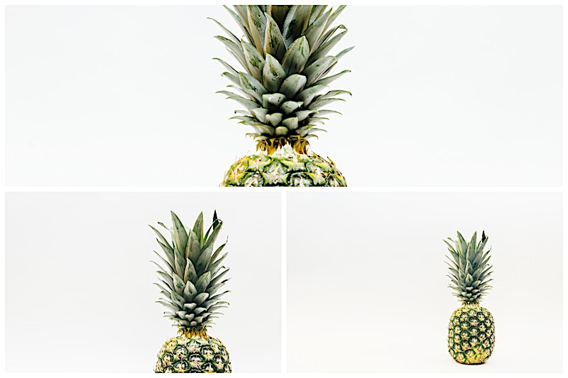 Pineapple Image collection and white background