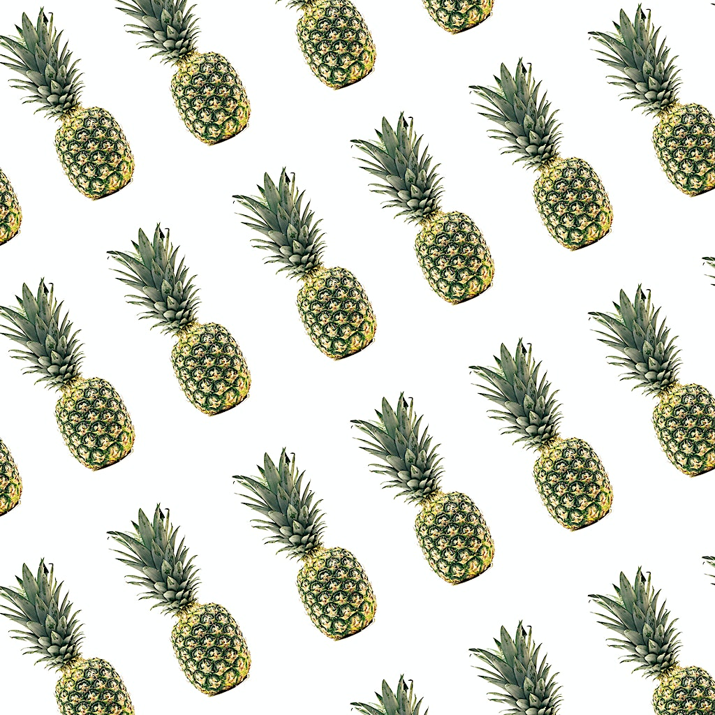 Seamless Pineapple Pattern Graphic