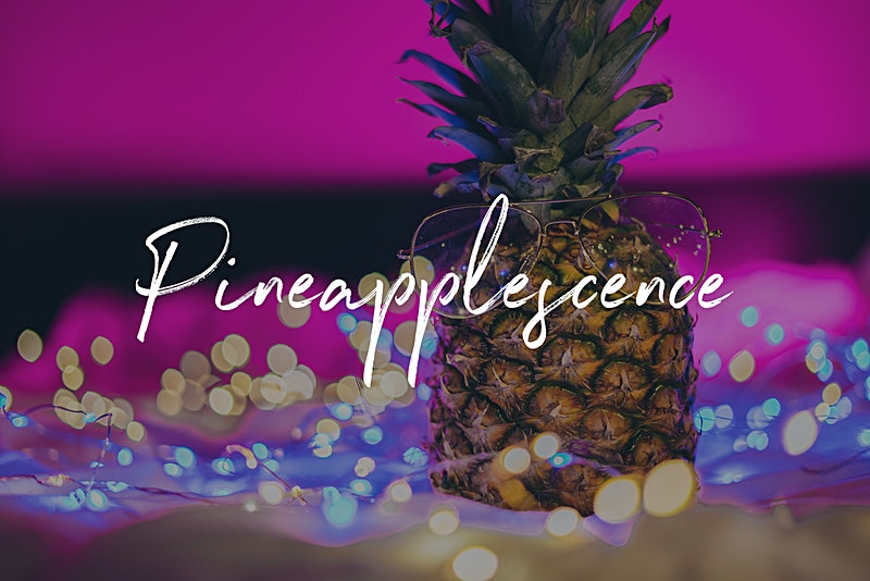 Pineapplescence Photo Bundle - Neon Pineapples in Lights