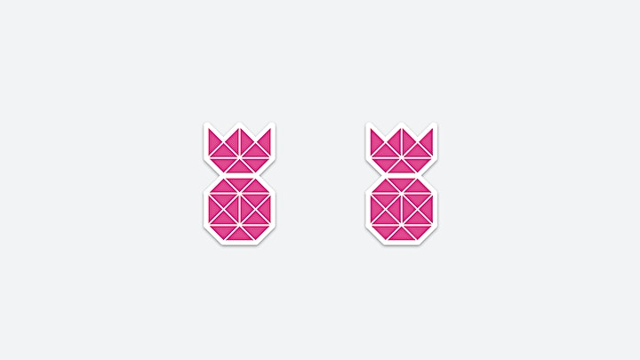 Pink Pineapple Stickers in the Pineapple Shop now