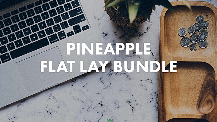 Pineapple Flat Lay Photo Bundle