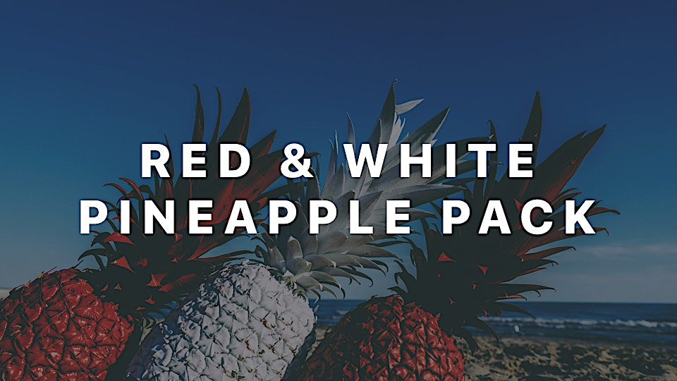 Red and White Pineapple Pack - The lost Pineapple photos are available