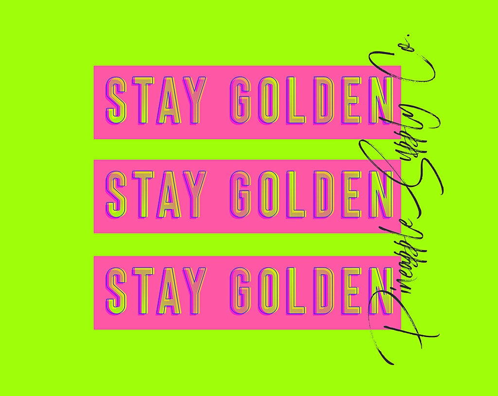 Stay Golden Background for Desktop with Pineapple Supply Co Text